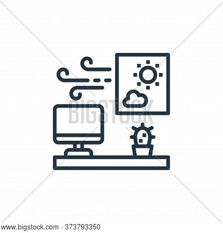 work station icon isolated on white background from work from home collection. work station icon tre