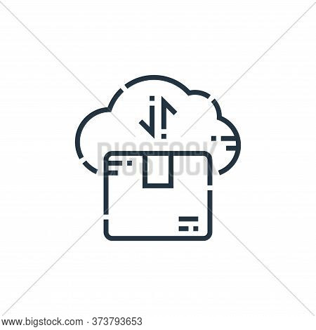 cloud computing icon isolated on white background from delivery collection. cloud computing icon tre