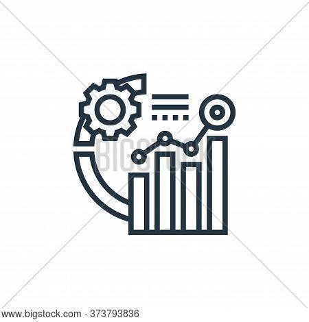 data analytics icon isolated on white background from data analytics collection. data analytics icon