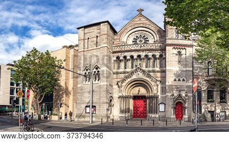 Dublin, Ireland - July 28th, 2019: Facade Of The St Ann, Anglican Church Of Ireland , Dublin.