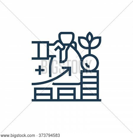 investment icon isolated on white background from business risks collection. investment icon trendy