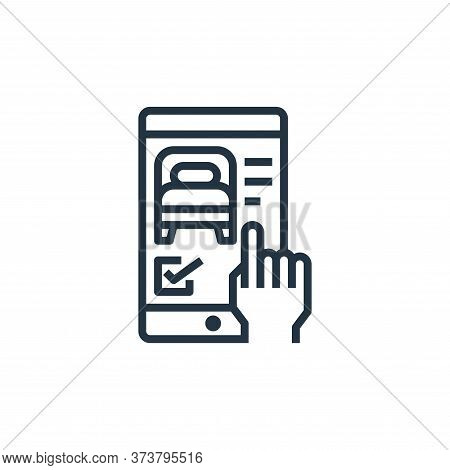 smartphone icon isolated on white background from hotel collection. smartphone icon trendy and moder