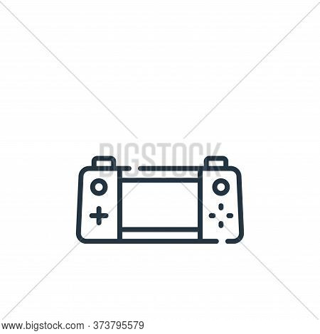 handheld console icon isolated on white background from videogame collection. handheld console icon