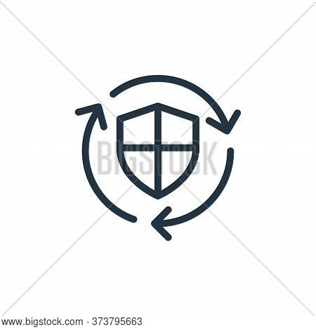 secure icon isolated on white background from data transfer collection. secure icon trendy and moder