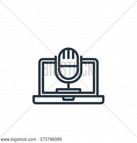 microphone icon isolated on white background from elearning collection. microphone icon trendy and m