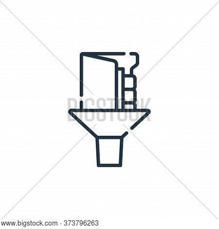 filter icon isolated on white background from database and servers collection. filter icon trendy an