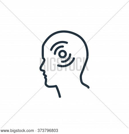 headache icon isolated on white background from stop virus collection. headache icon trendy and mode