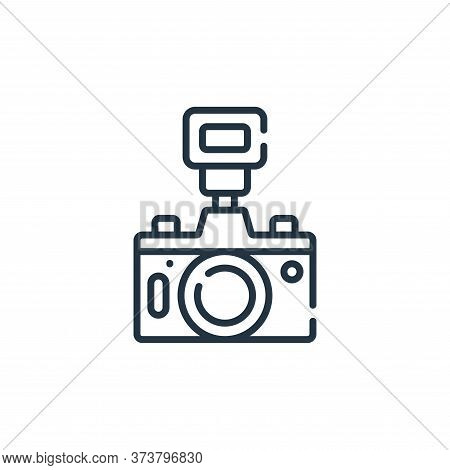camera icon isolated on white background from free time collection. camera icon trendy and modern ca