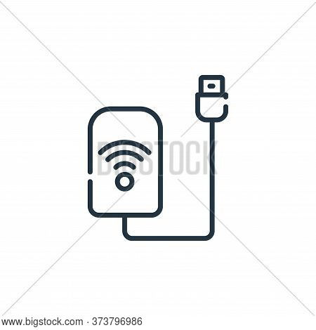 wifi icon isolated on white background from telecommuting collection. wifi icon trendy and modern wi