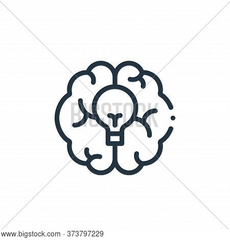 brain icon isolated on white background from design thinking collection. brain icon trendy and moder