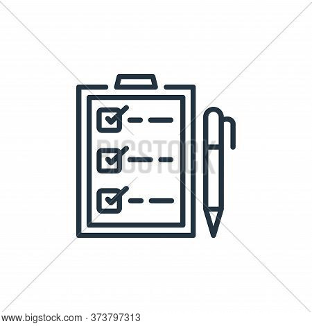 checklist icon isolated on white background from ecommerce collection. checklist icon trendy and mod