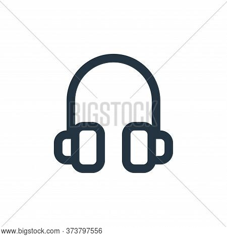 headphone icon isolated on white background from user interface collection. headphone icon trendy an