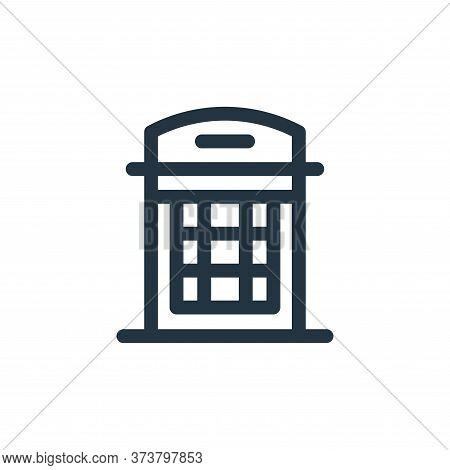 phone box icon isolated on white background from england collection. phone box icon trendy and moder