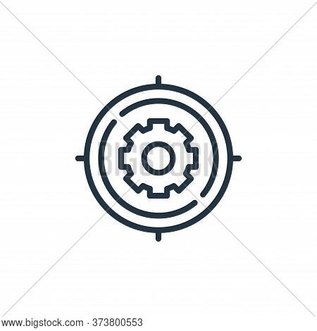 target icon isolated on white background from engineering collection. target icon trendy and modern