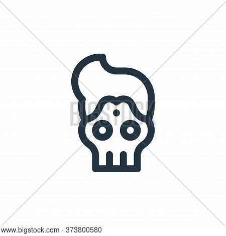 skull icon isolated on white background from cinco de mayo collection. skull icon trendy and modern