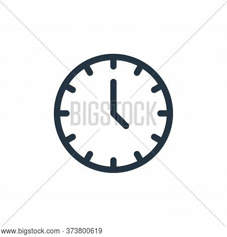 clock icon isolated on white background from electronics collection. clock icon trendy and modern cl