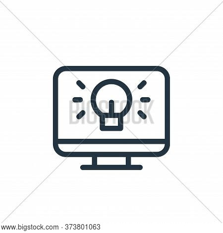 computer icon isolated on white background from online learning collection. computer icon trendy and