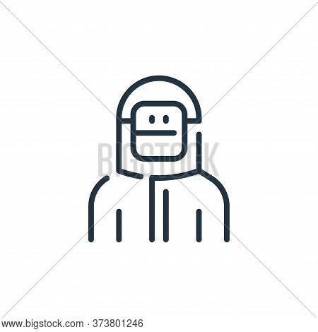 man icon isolated on white background from virus transmission collection. man icon trendy and modern