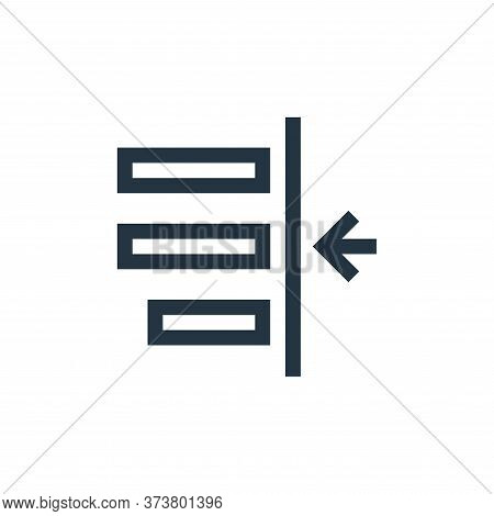 left indent icon isolated on white background from text editor collection. left indent icon trendy a