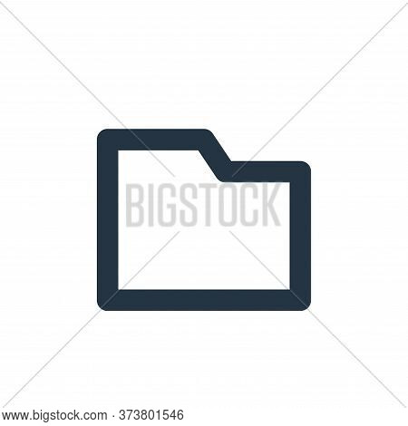 folder icon isolated on white background from user interface collection. folder icon trendy and mode