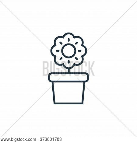 flower pot icon isolated on white background from interiors collection. flower pot icon trendy and m