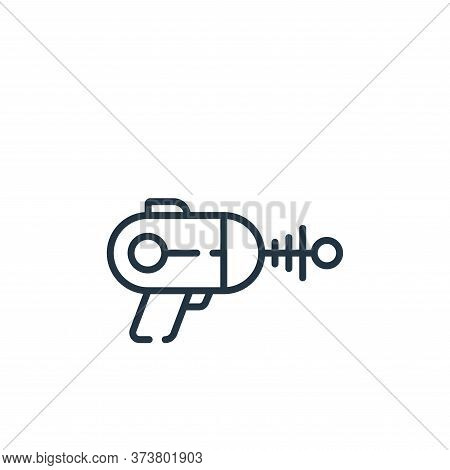 laser gun icon isolated on white background from children toys collection. laser gun icon trendy and