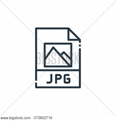 jpg file icon isolated on white background from file type collection. jpg file icon trendy and moder