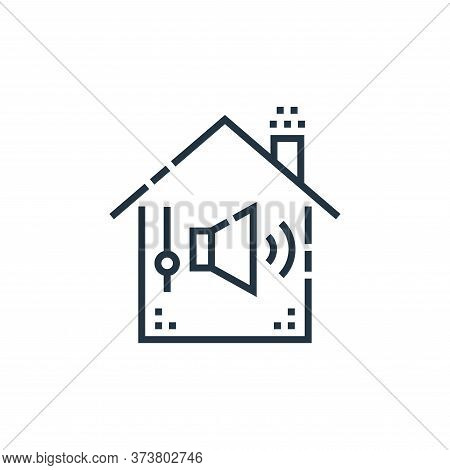 sound control icon isolated on white background from smarthome collection. sound control icon trendy