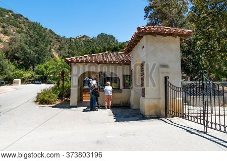 Entrance Of Wrigley Memorial And Botanic Garden On Santa Catalina Island, California, Usa. June 20th
