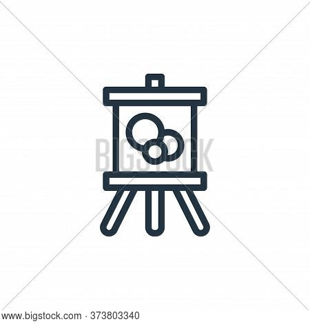 painting icon isolated on white background from hobbies collection. painting icon trendy and modern