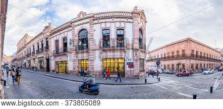 Zacatecas, Zacatecas, Mexico - November 22, 2019: The Locals And Tourists Exploring The Portal De Ro