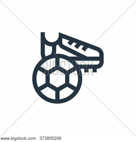 football icon isolated on white background from hobbies collection. football icon trendy and modern