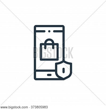 smartphone icon isolated on white background from online shopping collection. smartphone icon trendy