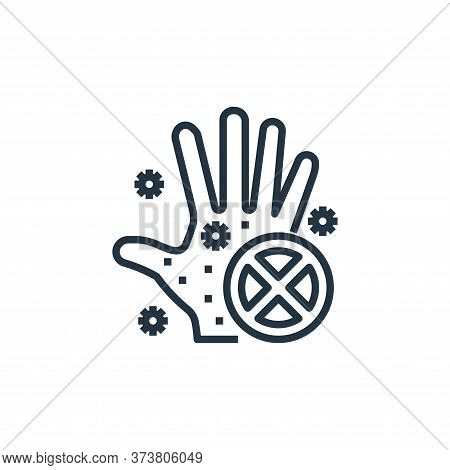 hand icon isolated on white background from wash hands collection. hand icon trendy and modern hand