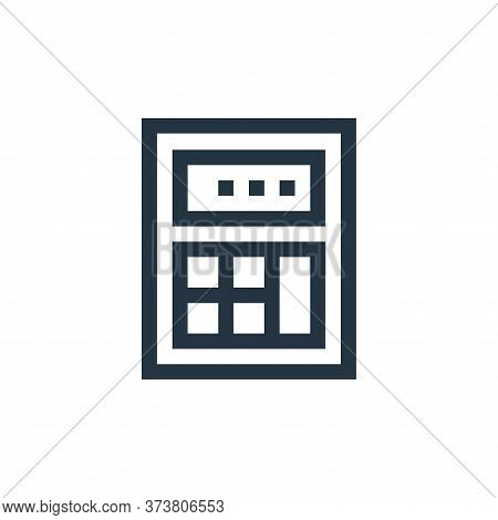 calculator icon isolated on white background from electronics collection. calculator icon trendy and