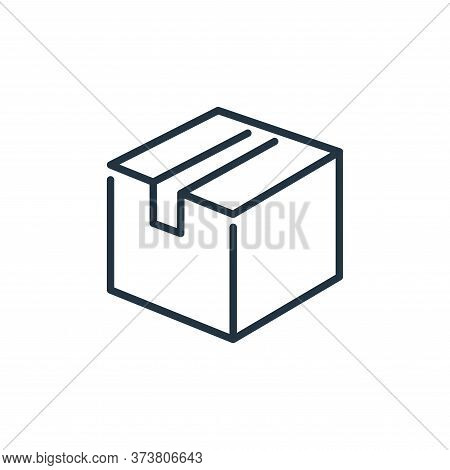 cardboard box icon isolated on white background from ecommerce collection. cardboard box icon trendy