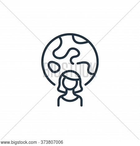woman icon isolated on white background from life skills collection. woman icon trendy and modern wo