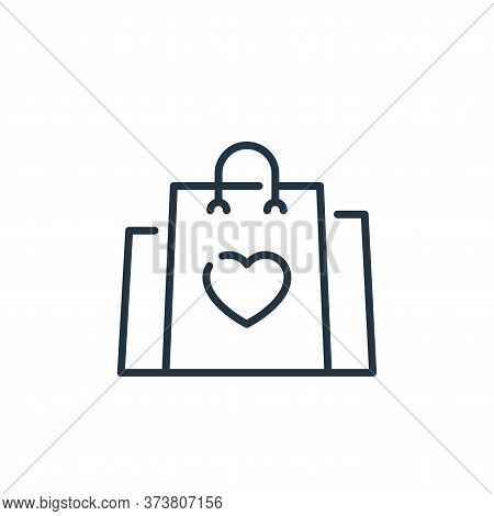 shopping bag icon isolated on white background from mall collection. shopping bag icon trendy and mo