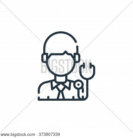 doctor icon isolated on white background from allergies collection. doctor icon trendy and modern do