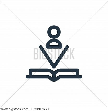 book icon isolated on white background from technology of the future collection. book icon trendy an