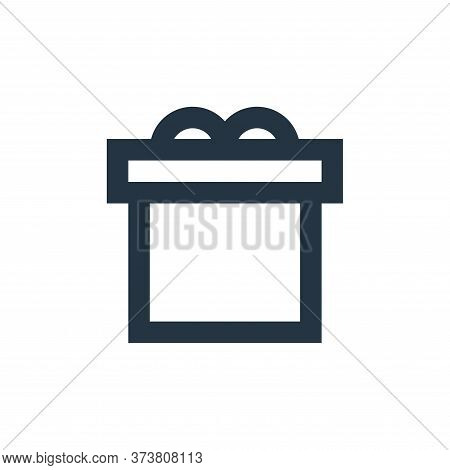 gift icon isolated on white background from user interface collection. gift icon trendy and modern g