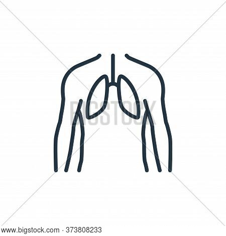 human lungs icon isolated on white background from stop virus collection. human lungs icon trendy an