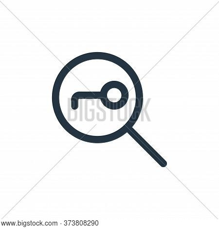 search option icon isolated on white background from web apps seo collection. search option icon tre