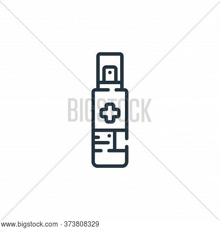 hand sanitizer icon isolated on white background from coronavirus prevention collection. hand saniti