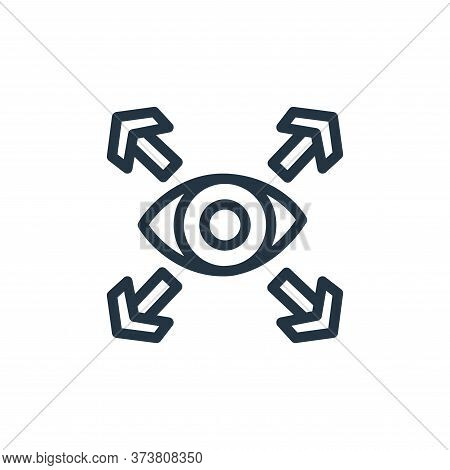 vision icon isolated on white background from business collection. vision icon trendy and modern vis