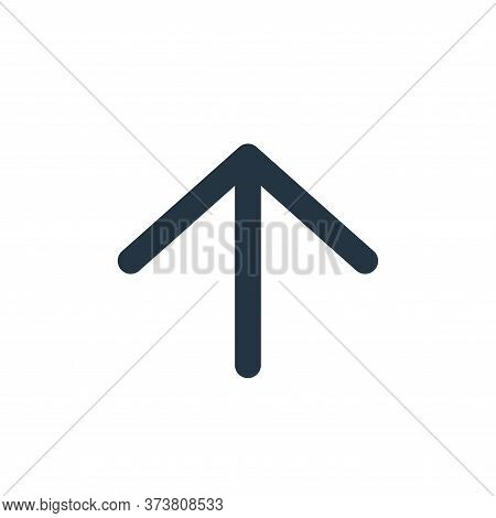 up arrow icon isolated on white background from user interface collection. up arrow icon trendy and