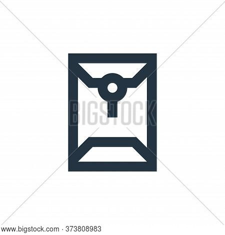 envelope icon isolated on white background from office stationery collection. envelope icon trendy a