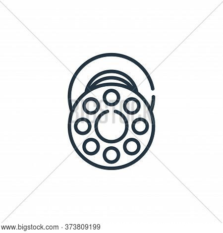 bobbin icon isolated on white background from sewing collection. bobbin icon trendy and modern bobbi