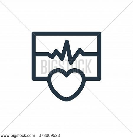 cardiogram icon isolated on white background from health collection. cardiogram icon trendy and mode