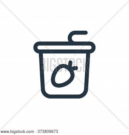 yogurt icon isolated on white background from gastronomy collection. yogurt icon trendy and modern y